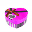 Pink Heart-shaped box — Stockfoto