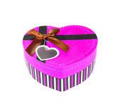 Rosa herzförmige box — Stockfoto