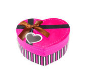 Pink Heart-shaped box — Stock Photo