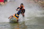 Freestyle åtgärden jet ski stunt — Stockfoto