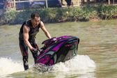 Freestyle the Jet Ski stunt action — Stock fotografie
