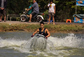 Freestyle the Jet Ski stunt action — 图库照片