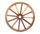 Wooden cartwheel — 图库照片