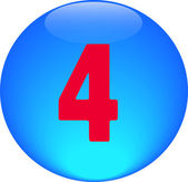 Abeceda ikonu symbolu dopis 4 — Stock fotografie
