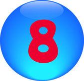 Alphabet icon symbol letter 8 — Stock Photo