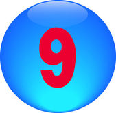 Alphabet icon symbol letter 9 — Stock Photo