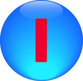 Abeceda ikonu symbolu písmeno i — Stock fotografie