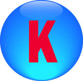 Alphabet icon symbol letter K — Stock Photo