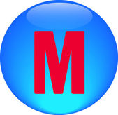 Alphabet icon symbol letter M — Stock Photo