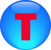 Alphabet icon symbol letter T — Stock Photo