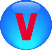 Alphabet icon symbol letter V — Stock Photo