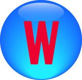 Alphabet icon symbol letter W — Stock Photo