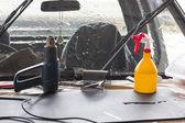 Car wash equipment — Stock Photo
