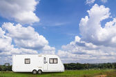 Caravans camping — Stock Photo