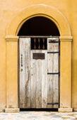 Closed door wooden — Stockfoto