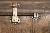 Lock of an old metal casket close up — Stock Photo