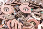 старый шлифовальные диски — Стоковое фото