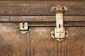 Lock of an old metal casket close up — Stock Photo