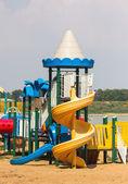 Modern children playground — Stock Photo