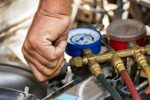 Repaired air car components — Stock Photo