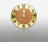 Face old wall clock — Stock Photo