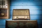 Vintage radyo çalar — Stok fotoğraf