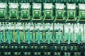 Row of Relay actuators — Stock Photo