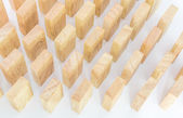 Row wooden domino — Foto de Stock