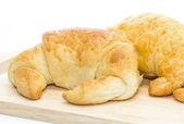 Fresh croissant isolated on white — Stock Photo