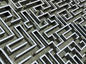 Comics-style closeup illustration of a labyrinth — Stock Photo