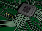Rough comics-style illustration of a microprocessor — Stock Photo