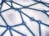 Sketched network with interconnected nodes — Stock Photo