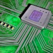 Vibrant illustrated section of a circuit board — Stock Photo #32683219