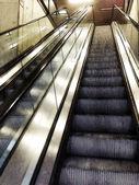 Comics-style illustration of escalators — Stock Photo