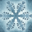 Painting-style representation of snowflake — Stock Photo #36129845