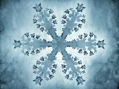 Painting-style representation of a snowflake — Stock Photo