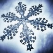 Close-up 3D illustration of a snow flake — Stock Photo
