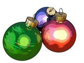 Christmas balls (use of ToonCamera by CodeOrgana) — Stock Photo