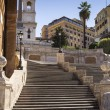 The famous staircase of trinity of the mountains in Rome - Stock Photo