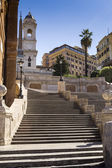The famous staircase of trinity of the mountains in Rome — Stock Photo