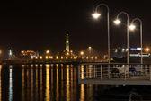 Lighthouse of Genoa by night — Stockfoto