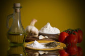 Traditional italian ingredients — Stock Photo