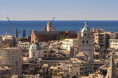 The skyline of Genoa , Italy — Stock Photo