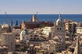 The skyline of Genoa , Italy — Foto de Stock