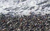 галечный пляж типичные лигурийские — Стоковое фото