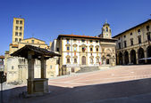 Piazza Grande in Arezzo, Tuscany, Italy — Stock Photo