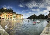 波托菲诺,著名的旅游胜地的海滨利古里亚 — 图库照片