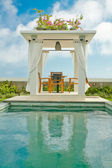 Tropical stone gazebo — Stock Photo