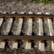 Rail road in motion — Stockvideo