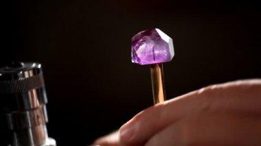 Instalação para medida de jóia — Vídeo Stock